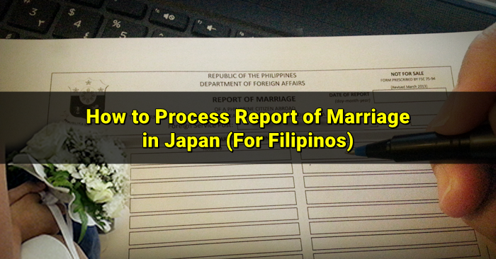 report of marriage in japan