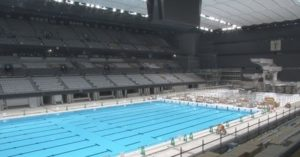 15,000-Seat Olympic Aquatics Center Unveiled for Tokyo 2020 Games